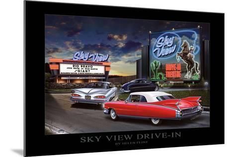 Sky View Drive-In-Helen Flint-Mounted Art Print