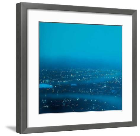 Turquoise Docklands-Jenny Pockley-Framed Art Print