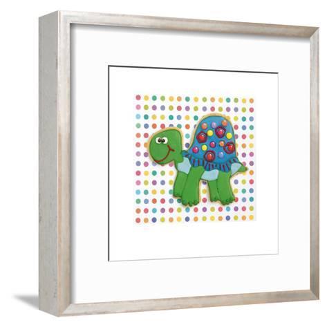 Trundling Tortoise-Shooter & Floodgate-Framed Art Print