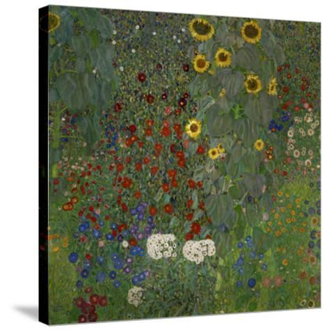 Garden/Sunflowers--Stretched Canvas Print