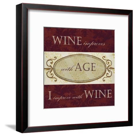 Wine Phrases III-Studio W-Framed Art Print