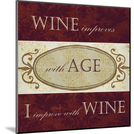 Wine Phrases III-Studio W-Mounted Art Print