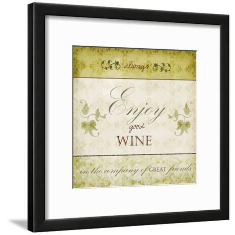 Wine Phrases VI-Studio W-Framed Art Print