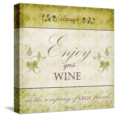 Wine Phrases VI-Studio W-Stretched Canvas Print