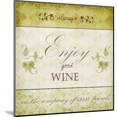 Wine Phrases VI-Studio W-Mounted Art Print