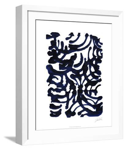 Indigo Swirls I-Jodi Fuchs-Framed Art Print
