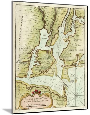 Petite Map of the Port of New York--Mounted Giclee Print