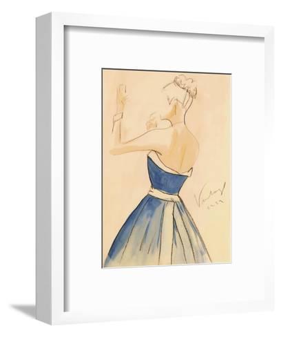 Blue Dress II-Tara Gamel-Framed Art Print