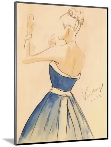 Blue Dress II-Tara Gamel-Mounted Art Print