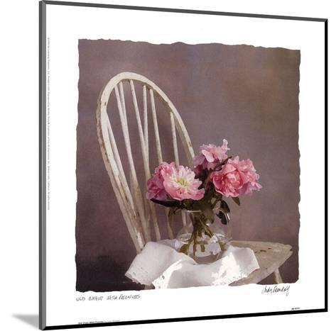 Old Chair With Peonies-Judy Mandolf-Mounted Art Print