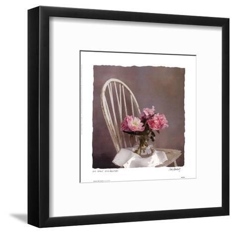Old Chair With Peonies-Judy Mandolf-Framed Art Print