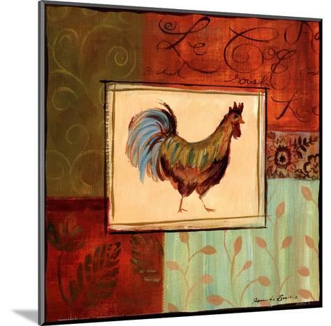 Patchwork Rooster IV-Jennifer Sosik-Mounted Art Print