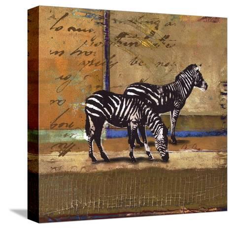 Serengeti Zebra-Fischer Warnica-Stretched Canvas Print