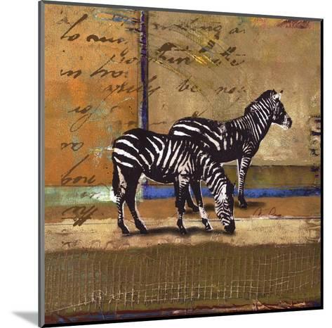 Serengeti Zebra-Fischer Warnica-Mounted Art Print
