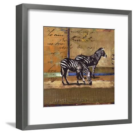 Serengeti Zebra-Fischer Warnica-Framed Art Print