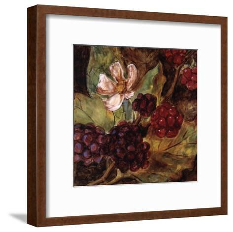 Red Berries And Blossom-Nicole Etienne-Framed Art Print