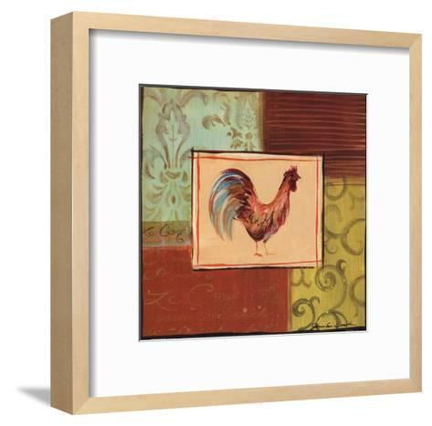 Patchwork Rooster III-Jennifer Sosik-Framed Art Print