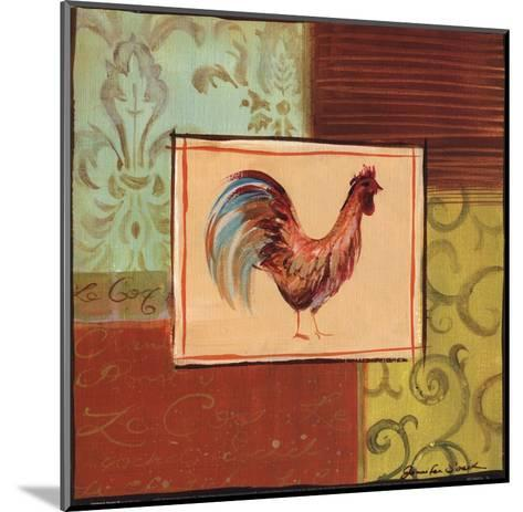 Patchwork Rooster III-Jennifer Sosik-Mounted Art Print
