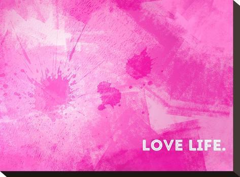 Emotional Art Love Life-Melanie Viola-Stretched Canvas Print