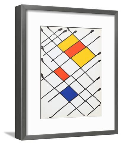 Damier from Derriere Le Miroir-Alexander Calder-Framed Art Print
