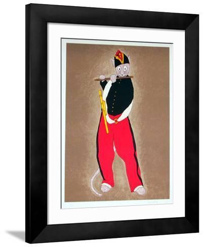 Fife Player- Bonnet-Framed Art Print