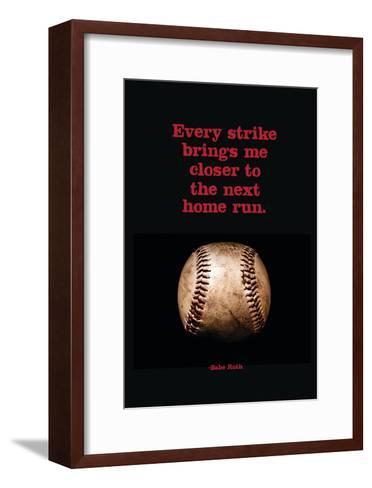 Every Strike Home--Framed Art Print