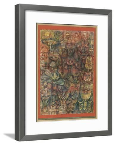 Strange Garden, 1923-Paul Klee-Framed Art Print