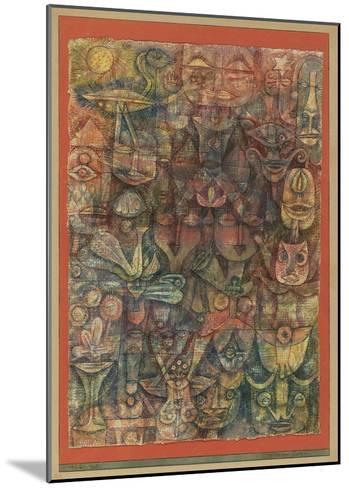 Strange Garden, 1923-Paul Klee-Mounted Art Print