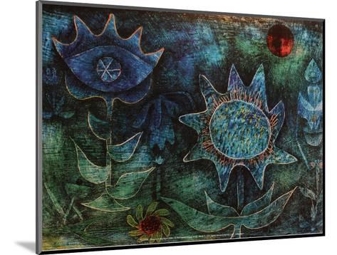 Flowers in the Night (1930)-Paul Klee-Mounted Art Print