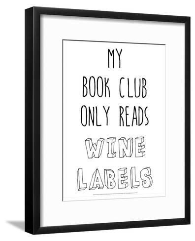My Book Club Only Reads Wine Labels-Retrospect Group-Framed Art Print