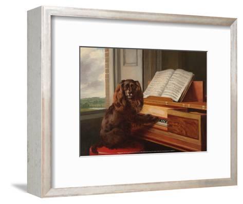 Portrait of an Extraordinary Musical Dog, 1805-Philip Reinagle-Framed Art Print