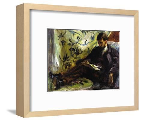 Portrait of Edmond Maitre (The Reader), 1871-Pierre-Auguste Renoir-Framed Art Print