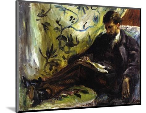 Portrait of Edmond Maitre (The Reader), 1871-Pierre-Auguste Renoir-Mounted Art Print