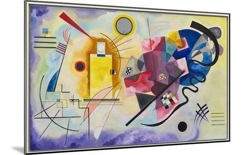 Yellow-Red-Blue (1925)-Wassily Kandinsky-Mounted Art Print
