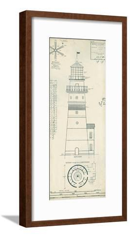 Lighthouse Plans III-The Vintage Collection-Framed Art Print