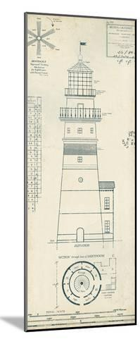 Lighthouse Plans III-The Vintage Collection-Mounted Art Print
