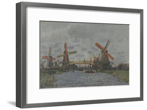 Windmills near Zaandam, 1871-Claude Monet-Framed Art Print