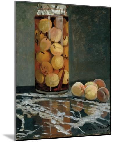 Jar of Peaches, 1866-Claude Monet-Mounted Premium Giclee Print