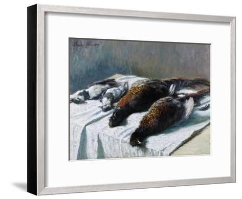 Still Life with Pheasants and Plovers, 1879-Claude Monet-Framed Art Print