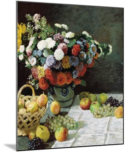 Still Life with Flowers and Fruit, 1869-Claude Monet-Mounted Premium Giclee Print