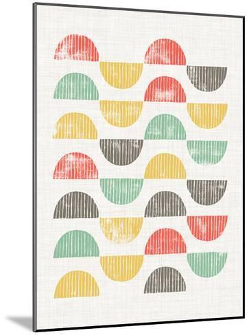 Mod Block Prints I-Grace Popp-Mounted Art Print