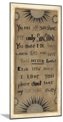 My Only Sunshine-Cindy Shamp-Mounted Art Print