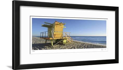 69th St Beach-John Gynell-Framed Art Print