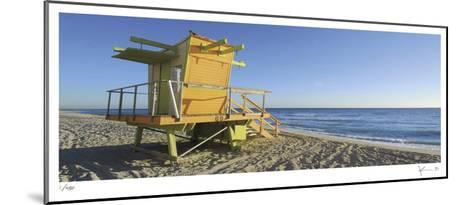 69th St Beach-John Gynell-Mounted Limited Edition
