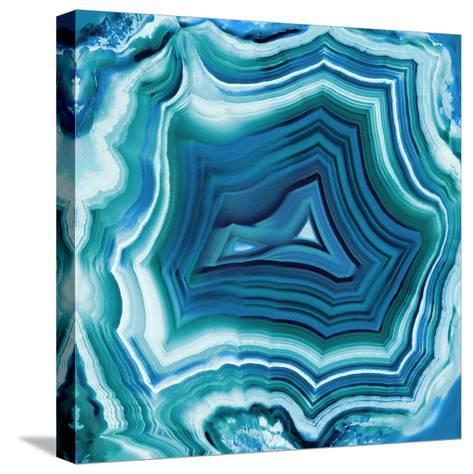 Agate in Aqua-Danielle Carson-Stretched Canvas Print