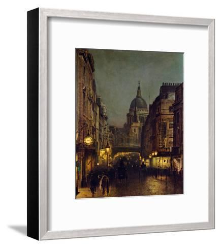 St. Paul's From Ludgate Circus-John Atkinson Grimshaw-Framed Art Print