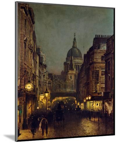St. Paul's From Ludgate Circus-John Atkinson Grimshaw-Mounted Giclee Print
