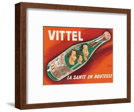 Vittel - La Sante en Bouteille (Bottled Health) - Natural Mineral Water from France-Pierre Bellenger and Emmanuel Gaillard-Framed Art Print