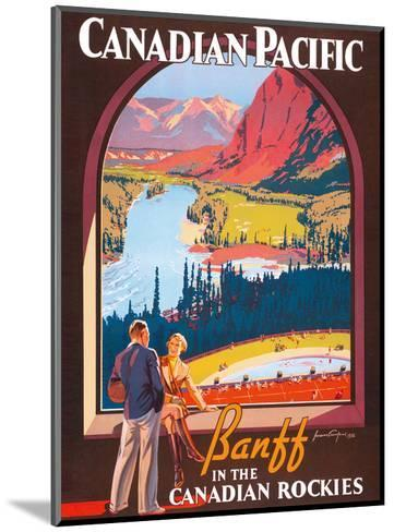 Banff in the Canadian Rockies - Lake Louise, Banff National Park - Canadian Pacific Railway Company-James Crockart-Mounted Art Print