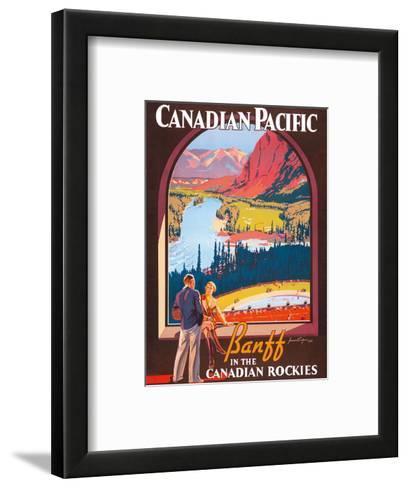 Banff in the Canadian Rockies - Lake Louise, Banff National Park - Canadian Pacific Railway Company-James Crockart-Framed Art Print